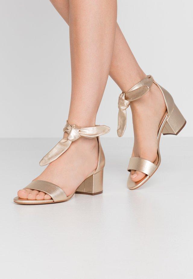 AYANE - Sandaalit nilkkaremmillä - platine