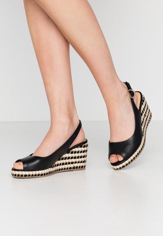 HIMILA - Korkeakorkoiset sandaalit - noir