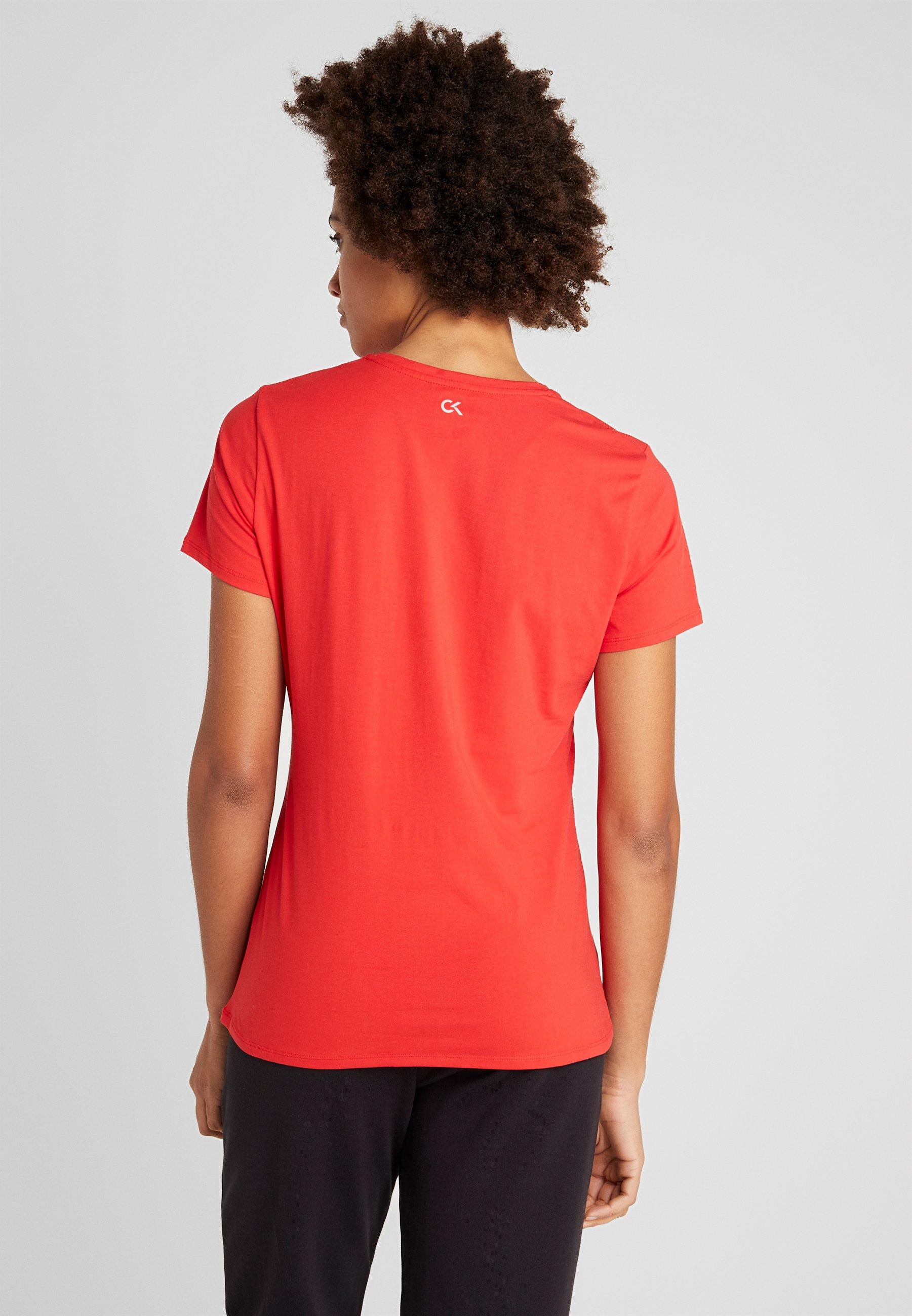 Calvin Klein Performance TEE LOGO - T-shirt con stampa - red