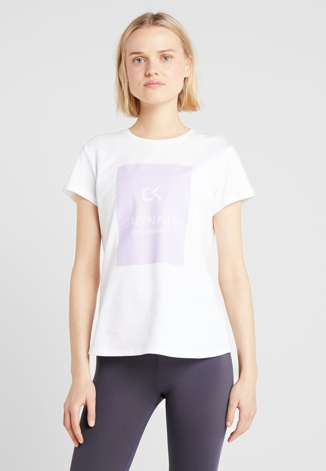 SHORT SLEEVE TEE - T-shirt con stampa - white