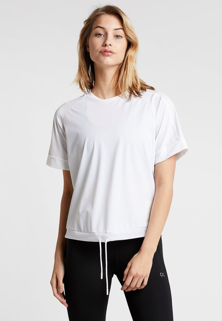 Calvin Klein Performance - SHORT SLEEVE TEE - Funktionsshirt - bright white