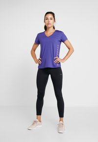 Calvin Klein Performance - COOLCORE TEE - T-shirt con stampa - blue - 1