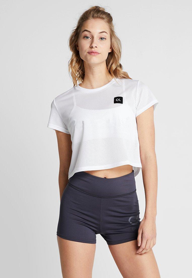 Calvin Klein Performance - CROPPED TEE - T-shirts print - white
