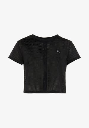 CROPPED TEE - T-shirt med print - black