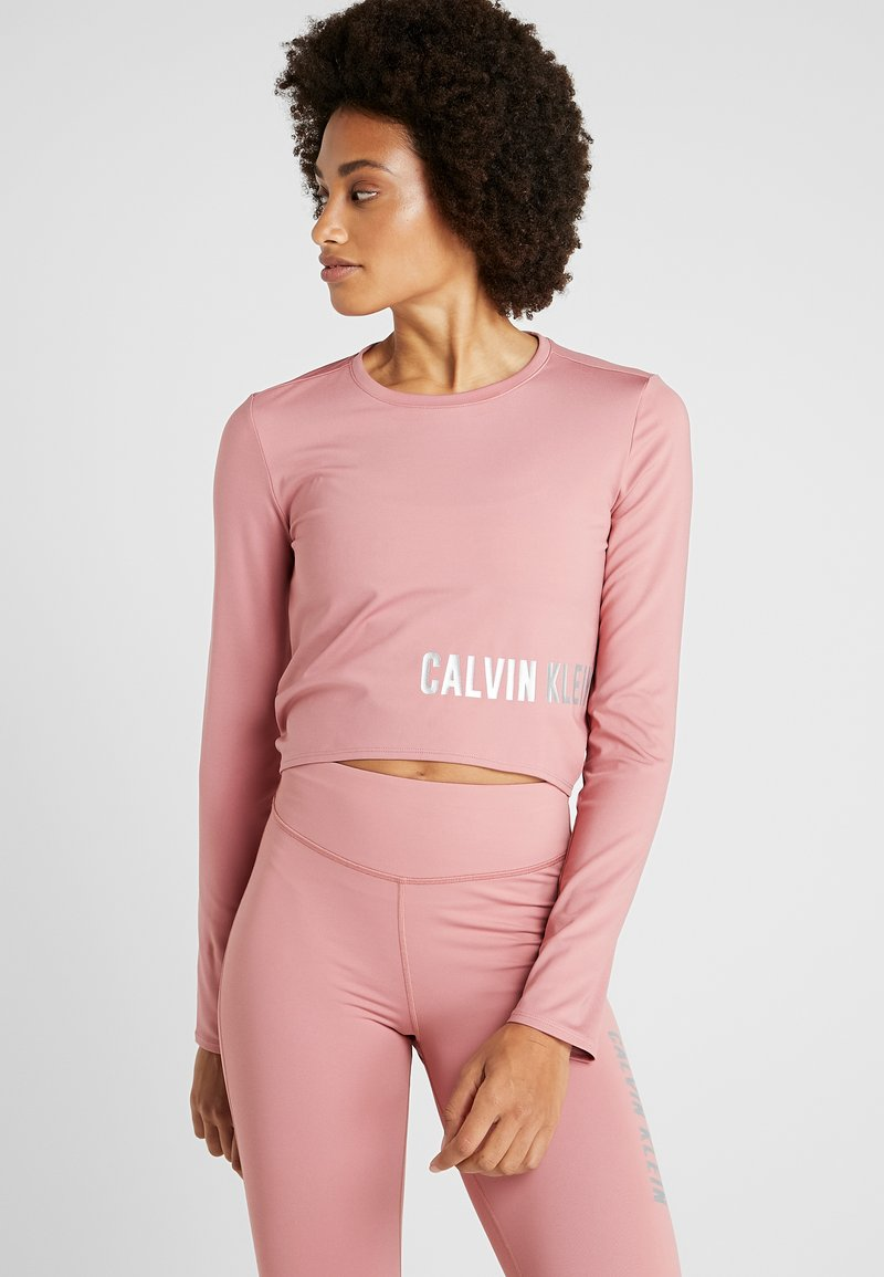 Calvin Klein Performance - LONG SLEEVE - Funkční triko - pink