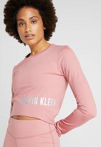 Calvin Klein Performance - LONG SLEEVE - Funkční triko - pink - 3