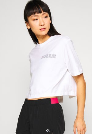 CROPPED SHORT SLEEVE  - T-shirt con stampa - white