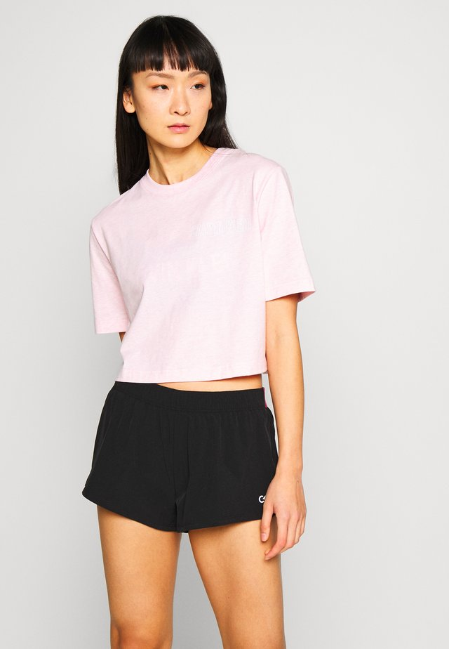 CROPPED SHORT SLEEVE  - T-Shirt print - pink