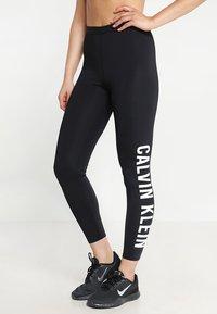 Calvin Klein Performance - LOGO LEG - Tights - black - 0