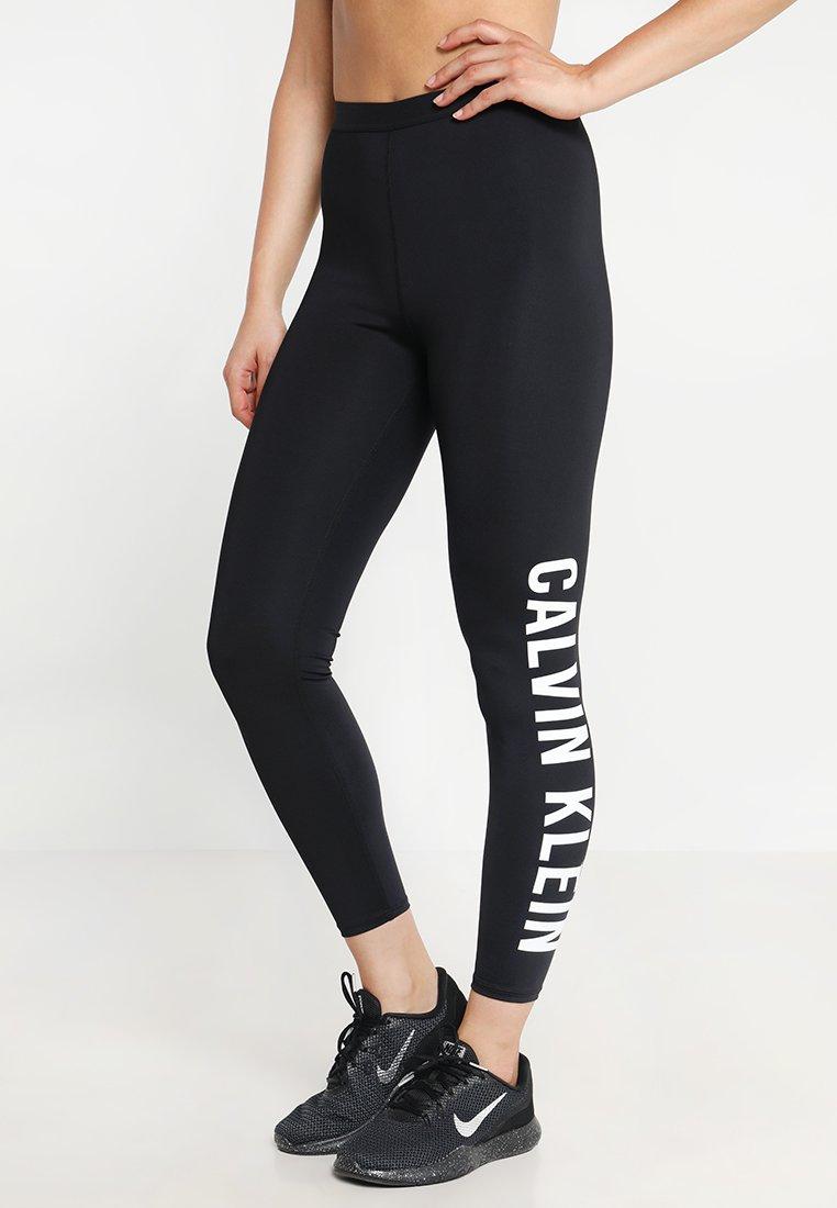 Calvin Klein Performance - LOGO LEG - Tights - black