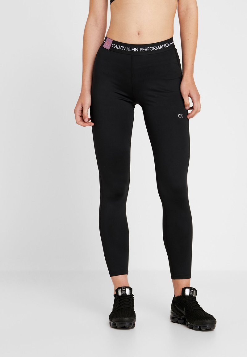 Calvin Klein Performance - 7/8 TIGHT - Medias - black