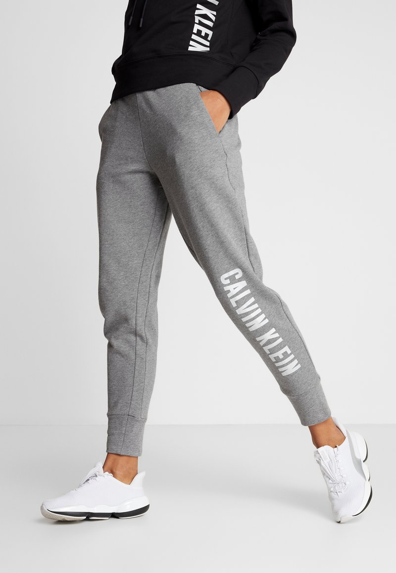 Calvin Klein Performance - PANTS - Tracksuit bottoms - grey