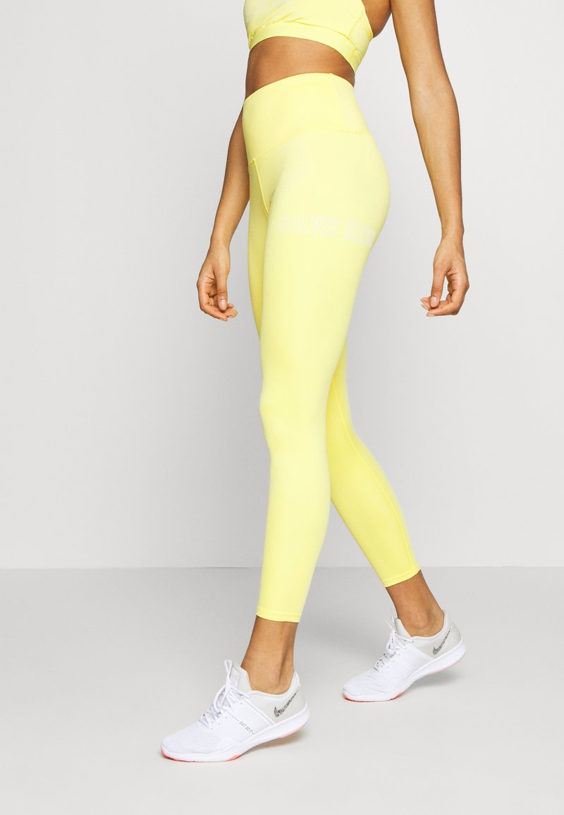 Calvin Klein Performance - FULL LENGTH - Punčochy - yellow
