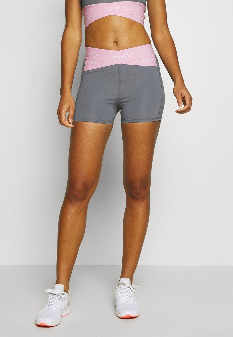 Calvin Klein Performance - SHORT - Leggings - grey