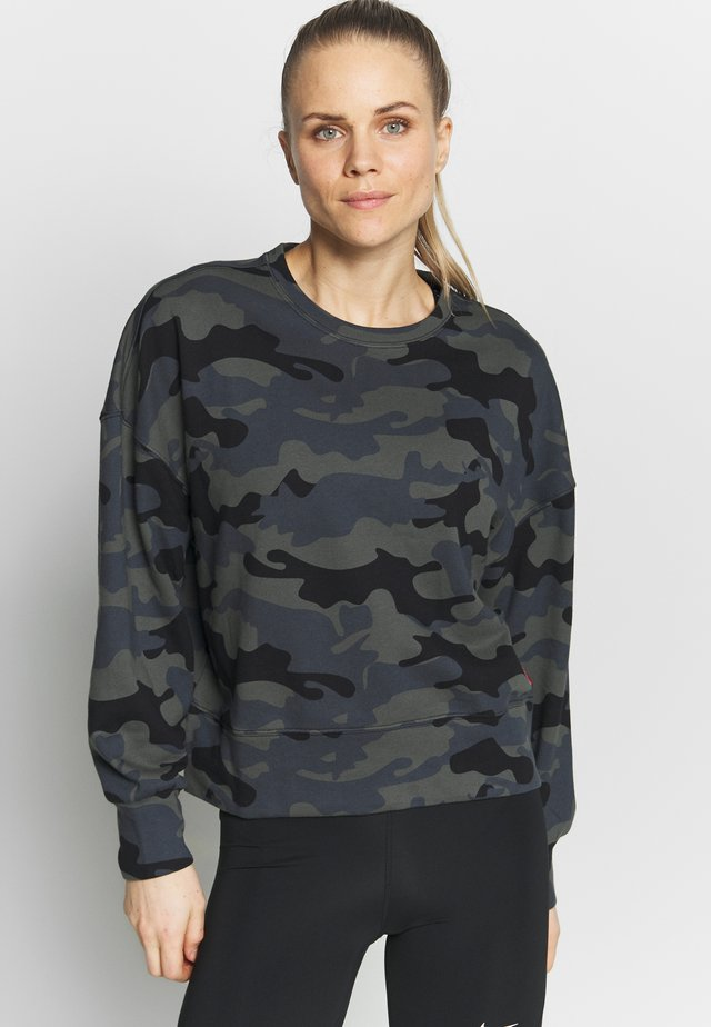 CROPPED PULLOVER - Sweatshirt - black