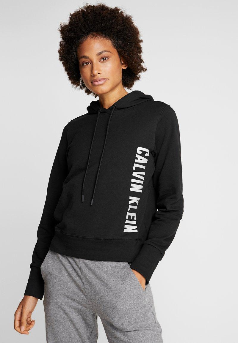 Calvin Klein Performance - HOODIE - Hoodie - black