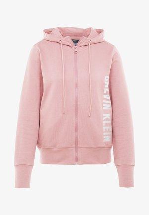 FULL ZIP HOODED JACKET - Mikina na zip - pink