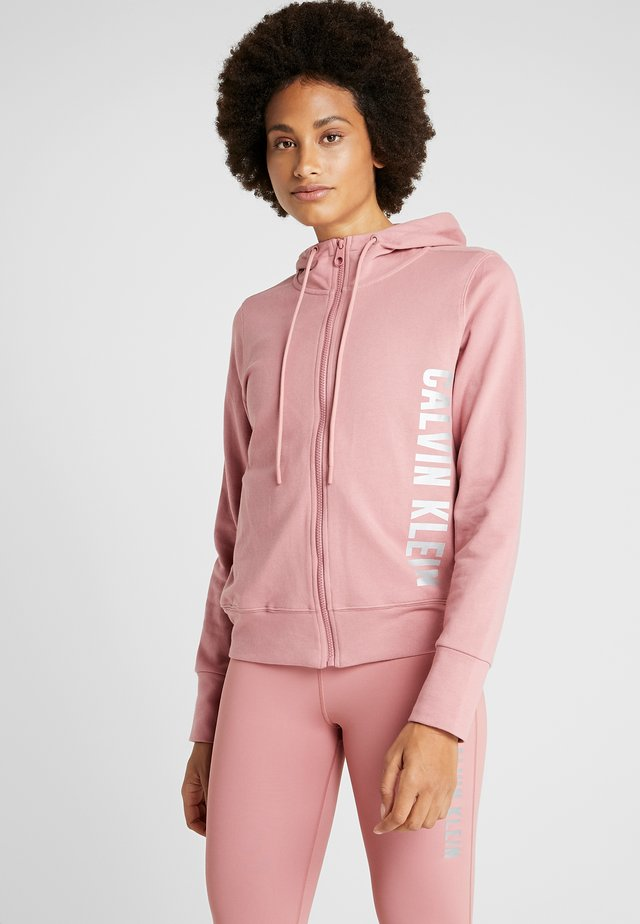 FULL ZIP HOODED JACKET - Sweatjacke - pink