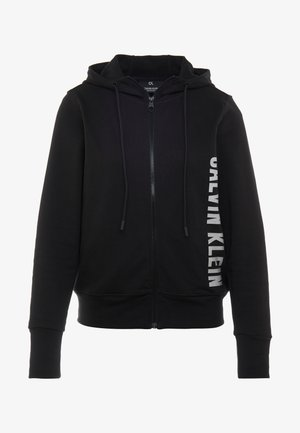 FULL ZIP HOODED JACKET - Mikina na zip - black