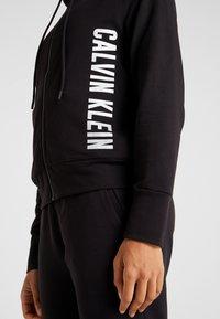 Calvin Klein Performance - FULL ZIP HOODED JACKET - Hoodie met rits - black - 4
