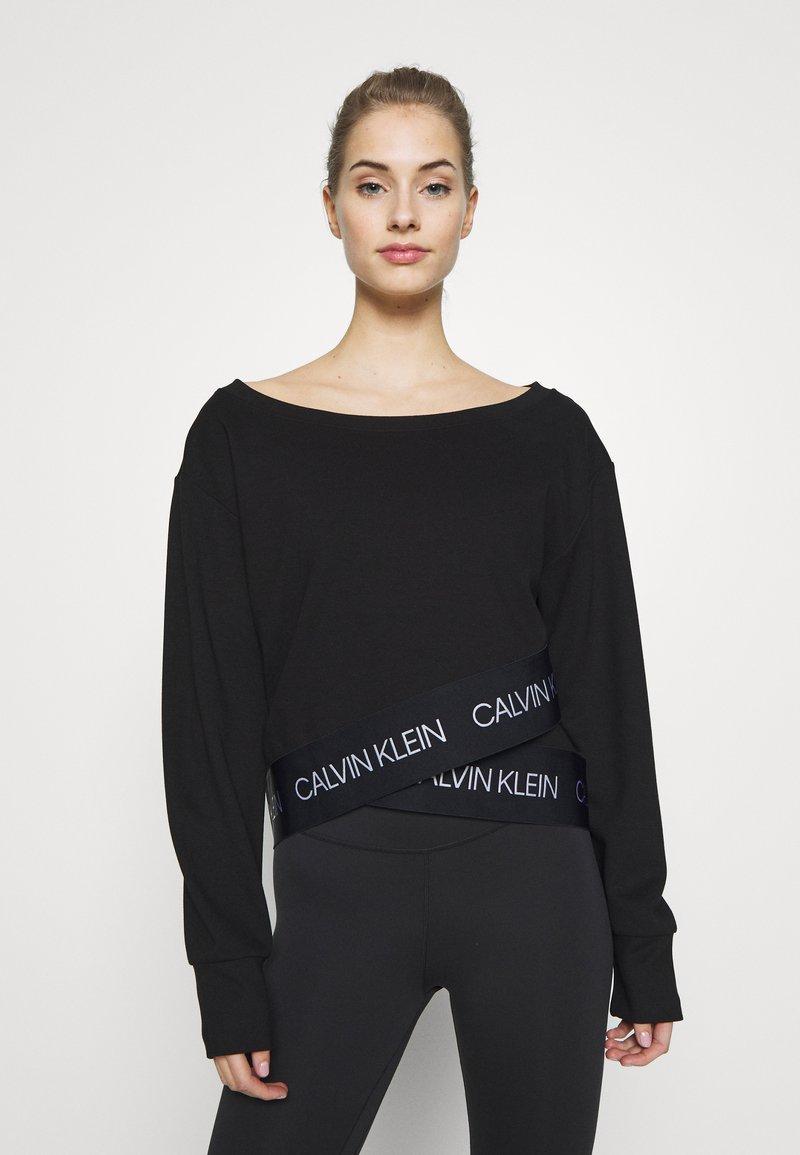 Calvin Klein Performance - Long sleeved top - black