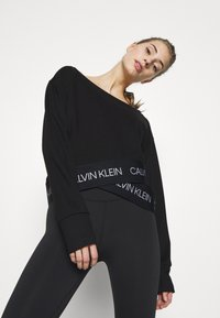 Calvin Klein Performance - Long sleeved top - black - 3