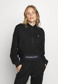 Calvin Klein Performance - ZIP  - Mikina - black - 0