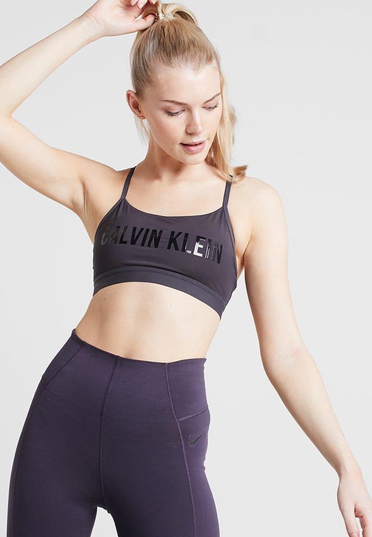 Calvin Klein Performance - ADJUSTABLE LOGO - Sports bra - gunmetal