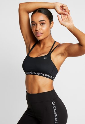 LOW SUPPORT BRA - Sport BH - black