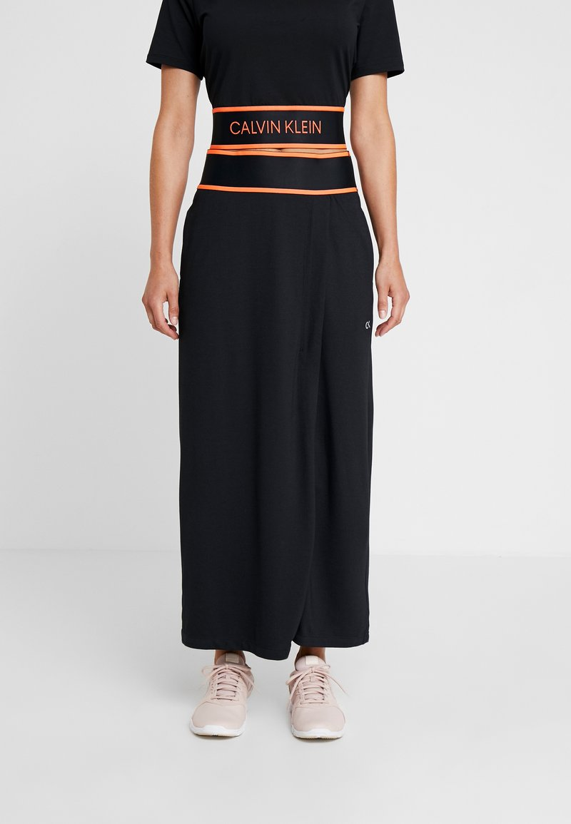 Calvin Klein Performance - MIDI SKIRT - Rokken - black