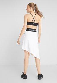 Calvin Klein Performance - ASYMMETRIC SKIRT - Sports skirt - white - 2