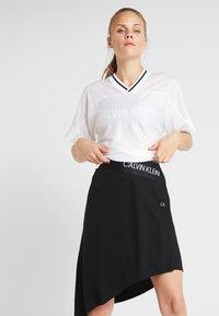 Calvin Klein Performance - ASYMMETRIC SKIRT - Gonna sportivo - black - 3