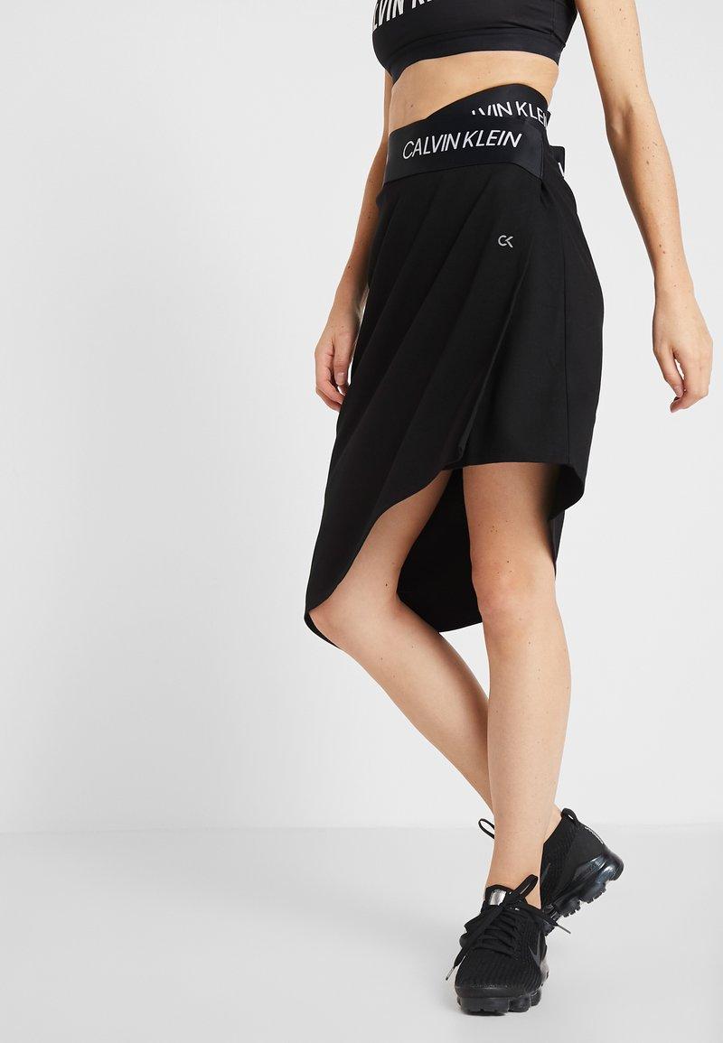 Calvin Klein Performance - ASYMMETRIC SKIRT - Jupe de sport - black