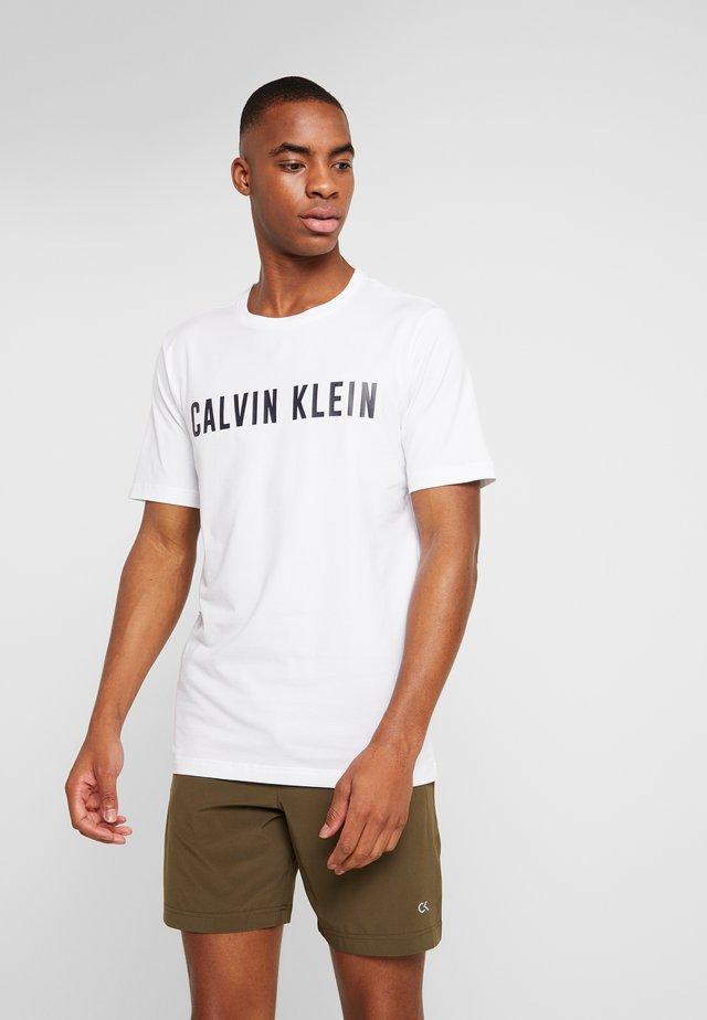 SHORT SLEEVE LOGO TEE - T-shirt med print - white