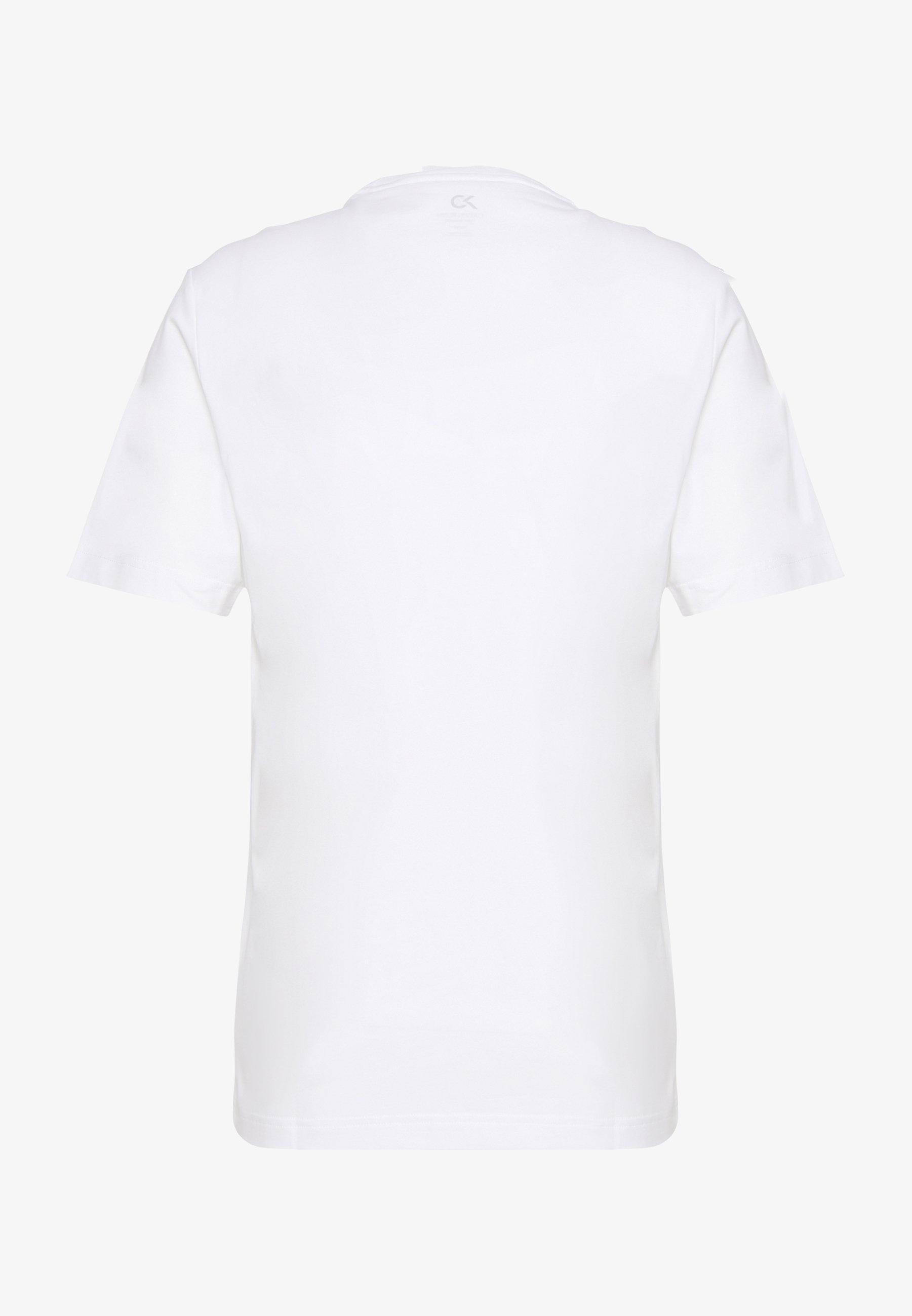 Calvin Klein Performance SHORT SLEEVE LOGO TEE - T-shirt imprimé - bright white/black