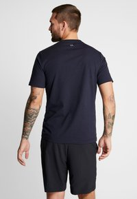 Calvin Klein Performance - SHORT SLEEVE LOGO TEE - Triko s potiskem - night sky/bright white - 2