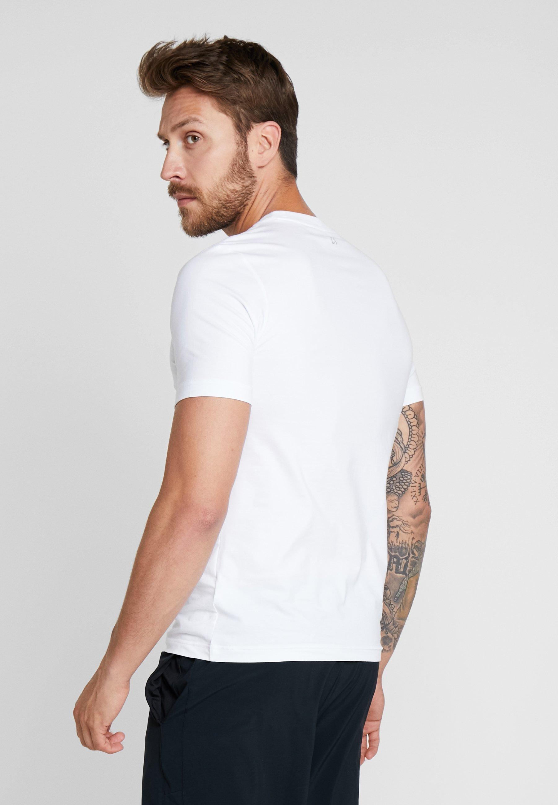 White Logo Klein Calvin TeeT shirt Performance Imprimé sdChtrQ