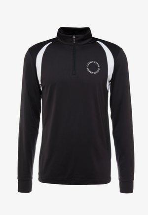 1/2 ZIP LONG SLEEVE TEE - Sports shirt - black