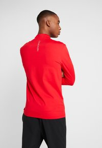 Calvin Klein Performance - ZIP LONG SLEEVE - Long sleeved top - red - 2