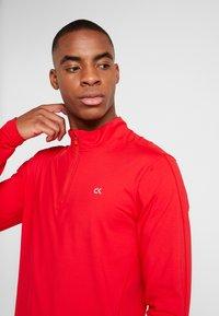 Calvin Klein Performance - ZIP LONG SLEEVE - Long sleeved top - red - 3