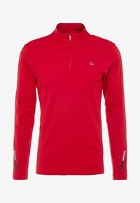 Calvin Klein Performance - ZIP LONG SLEEVE - Long sleeved top - red - 5