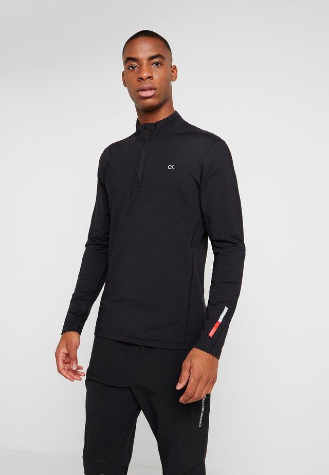 ZIP LONG SLEEVE - Long sleeved top - black