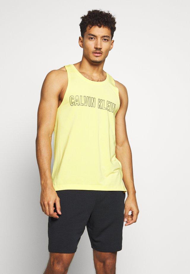 LOGO TANK  - Sports shirt - yellow
