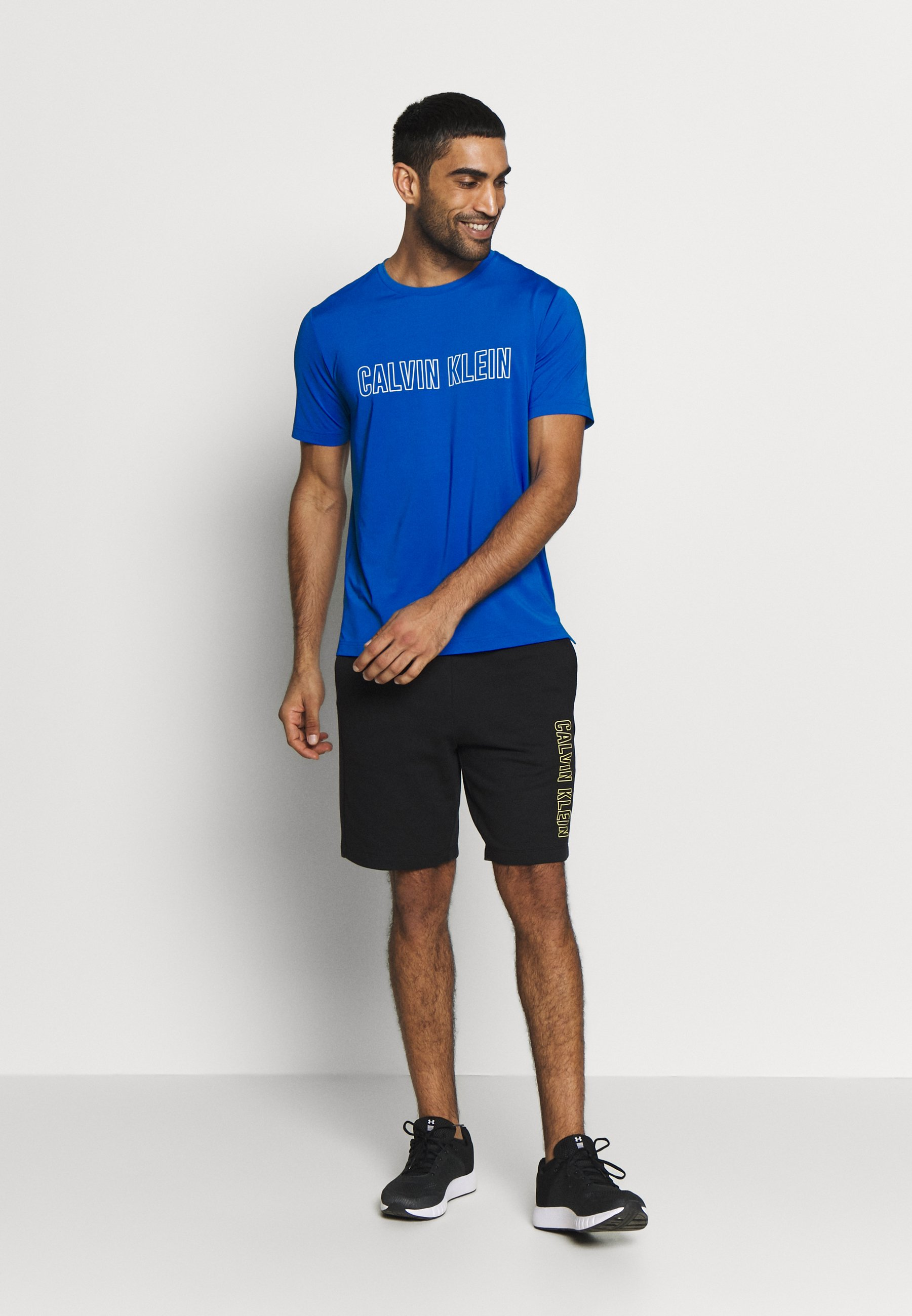 Calvin Klein Performance SHORT SLEEVE - T-shirt z nadrukiem - blue
