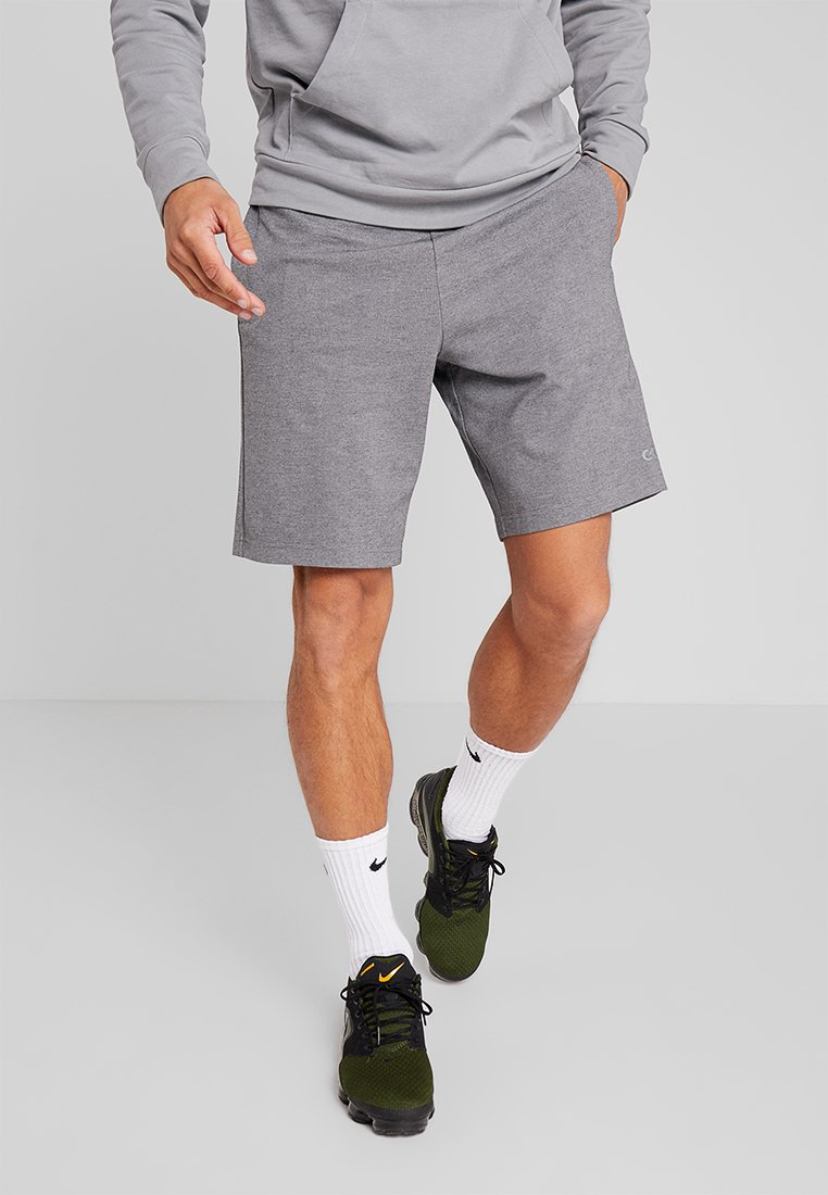 Calvin Klein Performance - SHORT - kurze Sporthose - med grey/lime punch