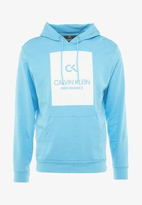Calvin Klein Performance - HOODY - Hoodie - ethereal blue/bright white - 4