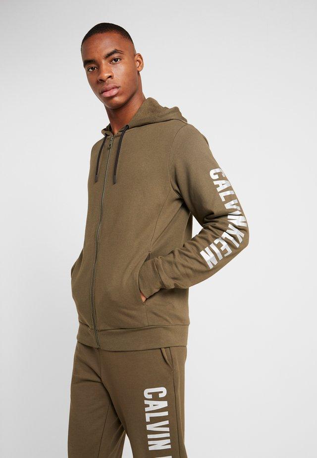 FULL ZIP HOODED - veste en sweat zippée - green