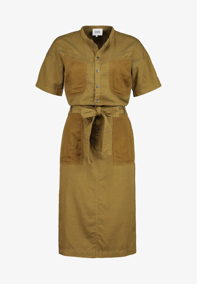 Korte jurk - green gold