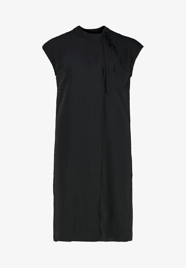 VILDA - Korte jurk - off black