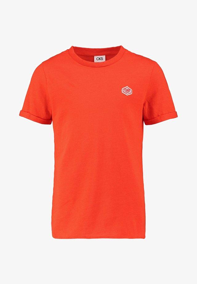 YALEX - T-shirt basic - summer red